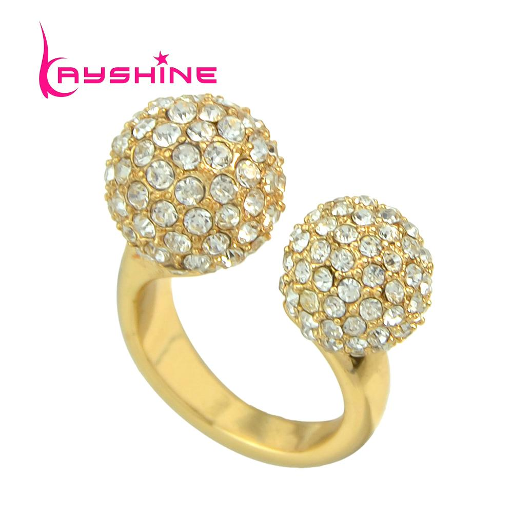 2018 New Fashion Jewelry Gold Color Finger Rings Elegant Full ...