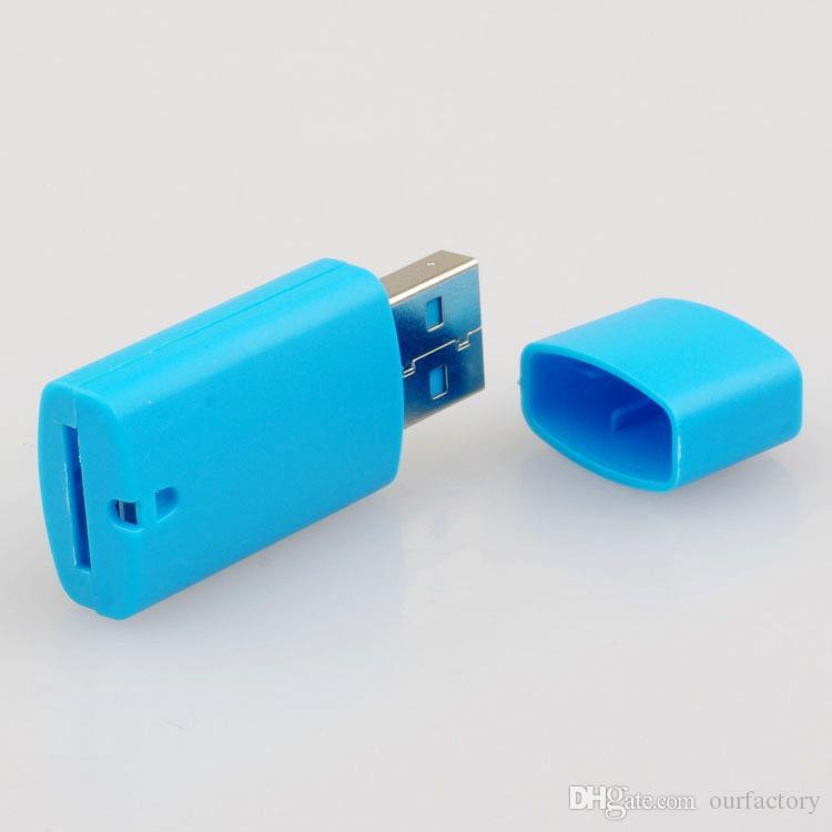 высокое качество, маленькая собака USB 2.0 memory TF card reader, micro SD Card reader бесплатная доставка 500 шт.