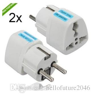 553e40a1fe5 High Quality White Universal 2 Pin UK US AU To EU EURO France Germany Travel  Adapter AC Power Plug Convert European Cell Phone Adapter Cell Phone Tripod  ...