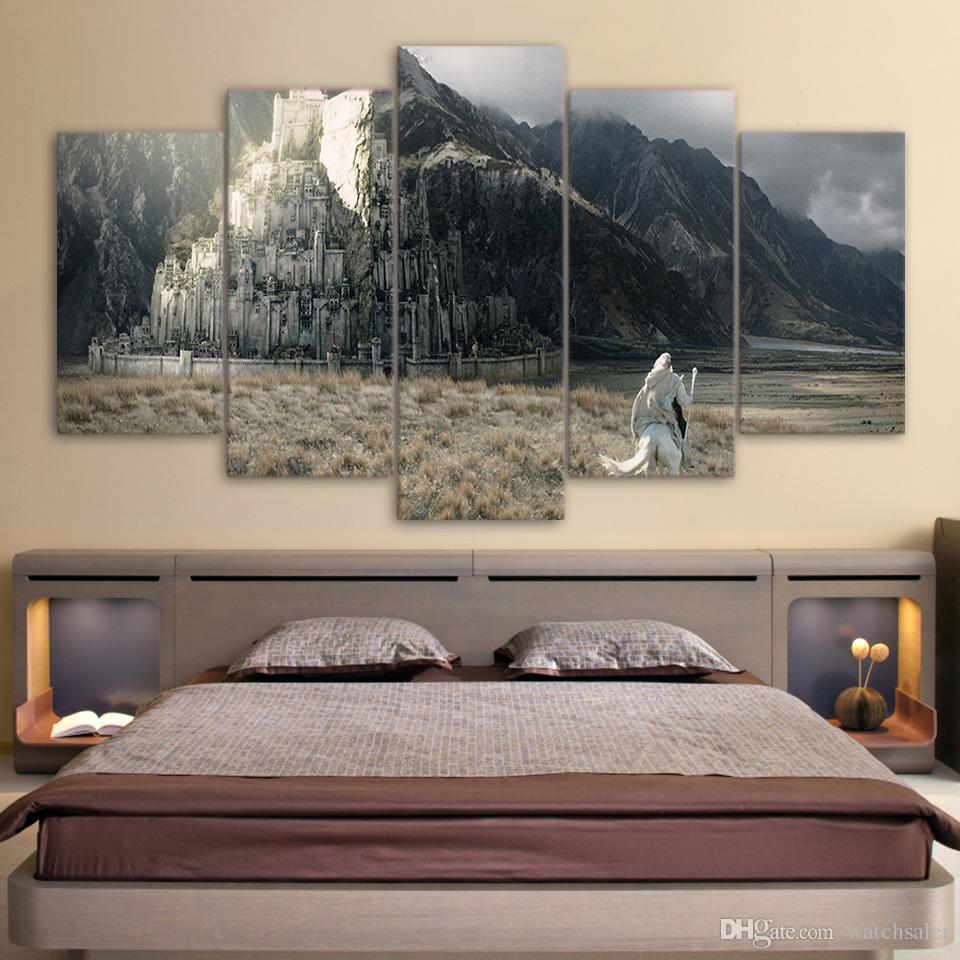 HD Impresso 5 Peça Da Arte Da Lona Devil Game Poster Pintura Magic World Decorativa Canvas Pictures Frames Frete Grátis