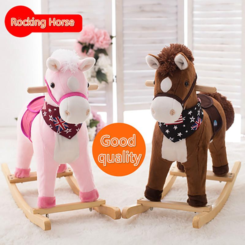 Plush Toy Creative Gift Classic Rocking Horse Small Trojan Woodenu0026plastic Rocking Chair Kids Toys Gift for Children Trojan Chair Toy Horse Rocking Chair ... & Plush Toy Creative Gift Classic Rocking Horse Small Trojan ...