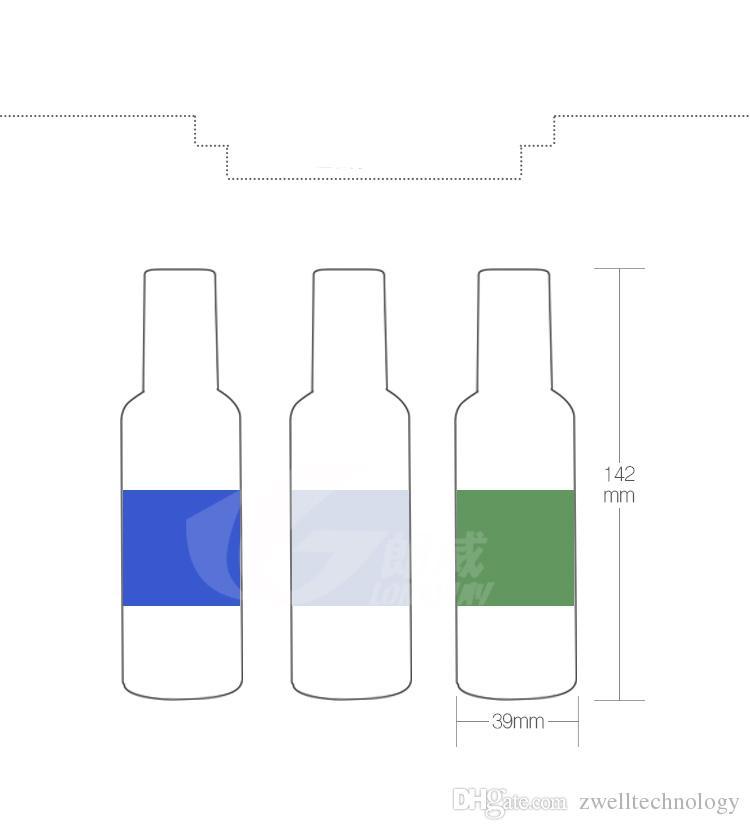100ml Vacía Airless Pump Botellas de plástico Presión de vacío Botella de emulsión y azul verde claro Con Loción Bomba en el cosmético que viaja Pa