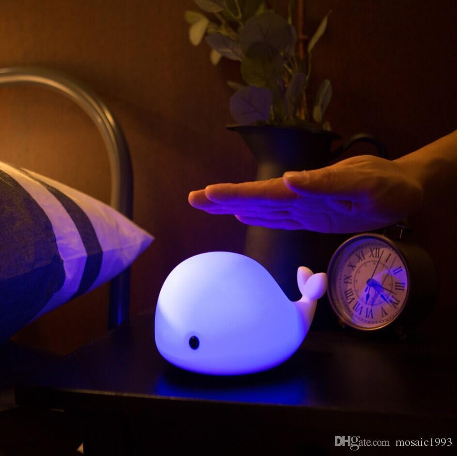 Usb Desk Night Lights Baby Room Whale Cartoon Night Light
