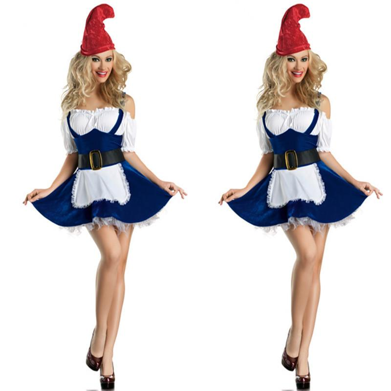 new sexy girls christmas costumes adult christmas clothes beer girl costumes apparel blue maid game uniforms lady christmas costumes christmas clothes beer - Best Christmas Costumes