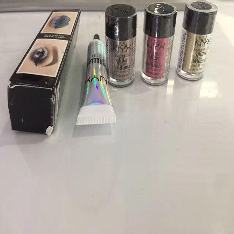 New quente NYX Glitter Primer Para Eyeshadow e Batom Rendas e Corpo 25g com Primer Set