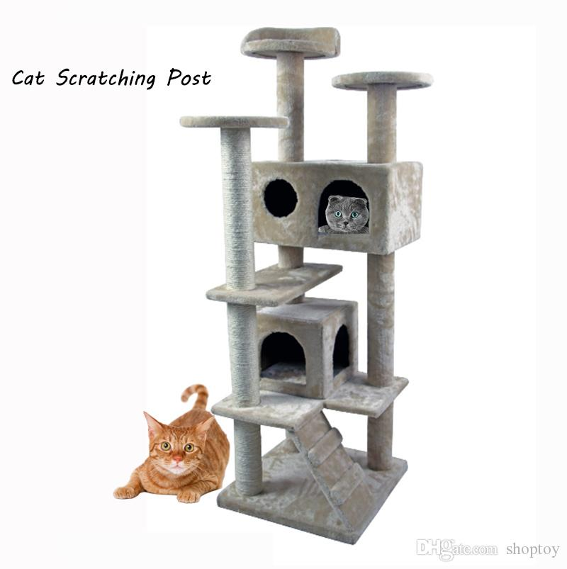 new deluxe cat tree tower condo furniture scratch post kitty pet house play furniture ct004 be from shoptoy dhgatecom - Cat Scratching Post