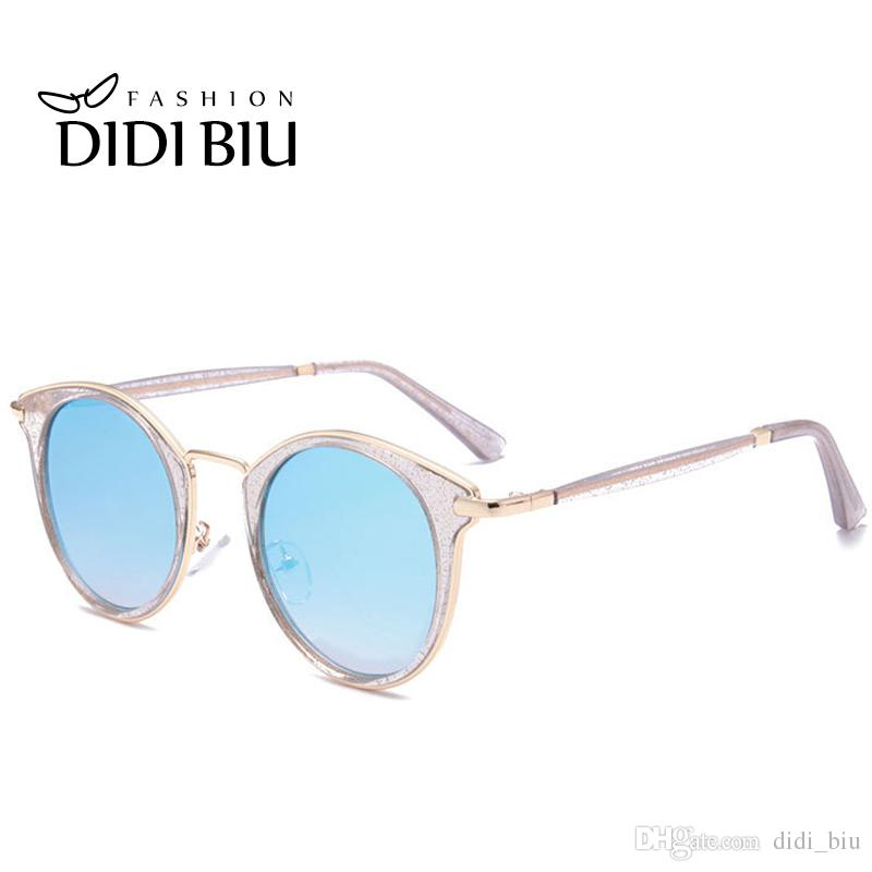 b5c066c2cd DIDI 2017 Italian Transparent Cat Eye Sunglasses Women Men Brand Designer  Oval Glasses Mirrorred Summer Beach Eyewear China Candy Color W715 Round ...