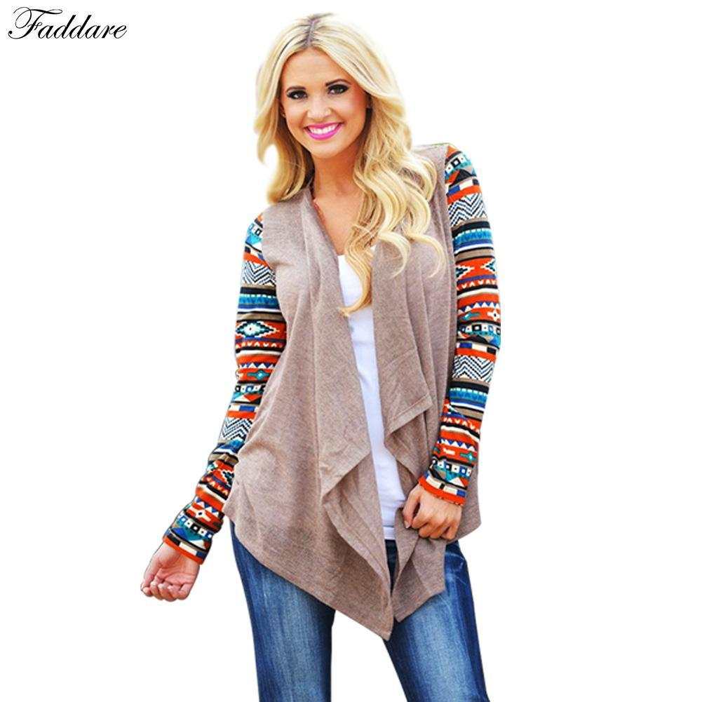 79259075a3 2019 Wholesale Women Tops Fashion Cardigan Female Stylish Collarless Long  Sleeve Cardigan Floral Pattern Asymmetrical Cardigan Women From  Ferdinand07