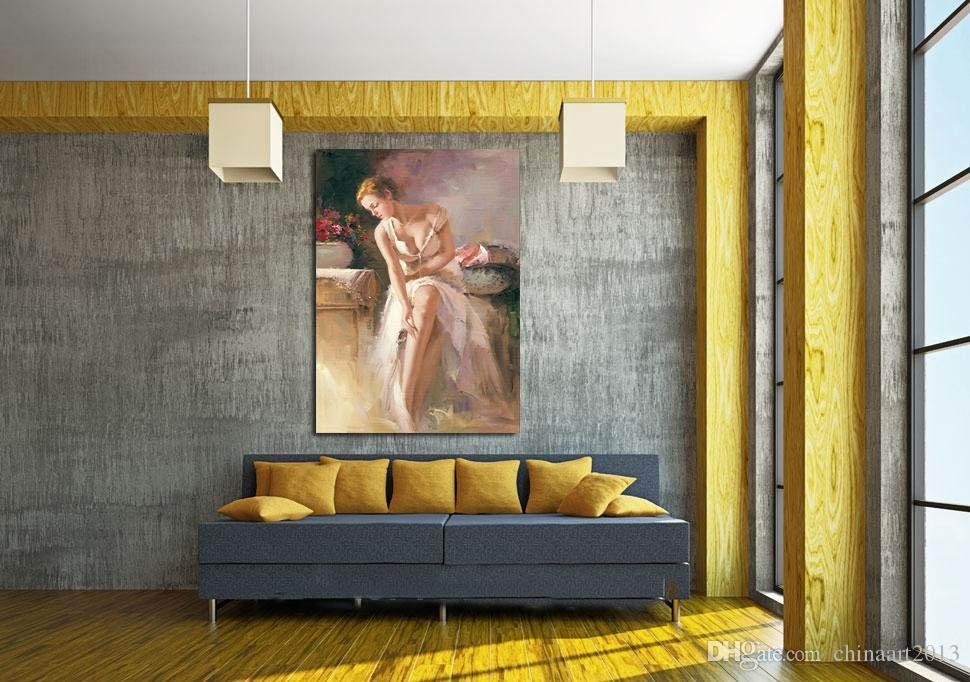 Feautiful Nude Sexy Girl Europe Portrait Modern Abstract Oil Painting On Canvas For Bedroom Living Room Wall Art Home Decoration