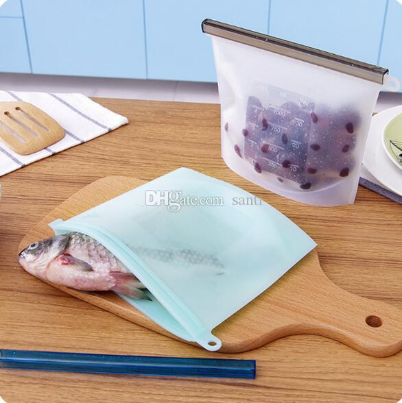 Silicone Fresh Bags Home Food Sealing Storage bag Organization kitchen Gadgets cooking tools Accessories Supplies