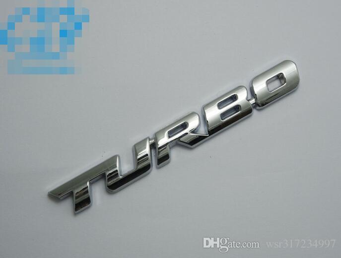 High quality 3D Car Emblem Sticker TURBO METAL GRILL Rear Trunk Car Badge for Audi BMW Ford focus VW skoda seat Peugeot DS Renault Hyundai
