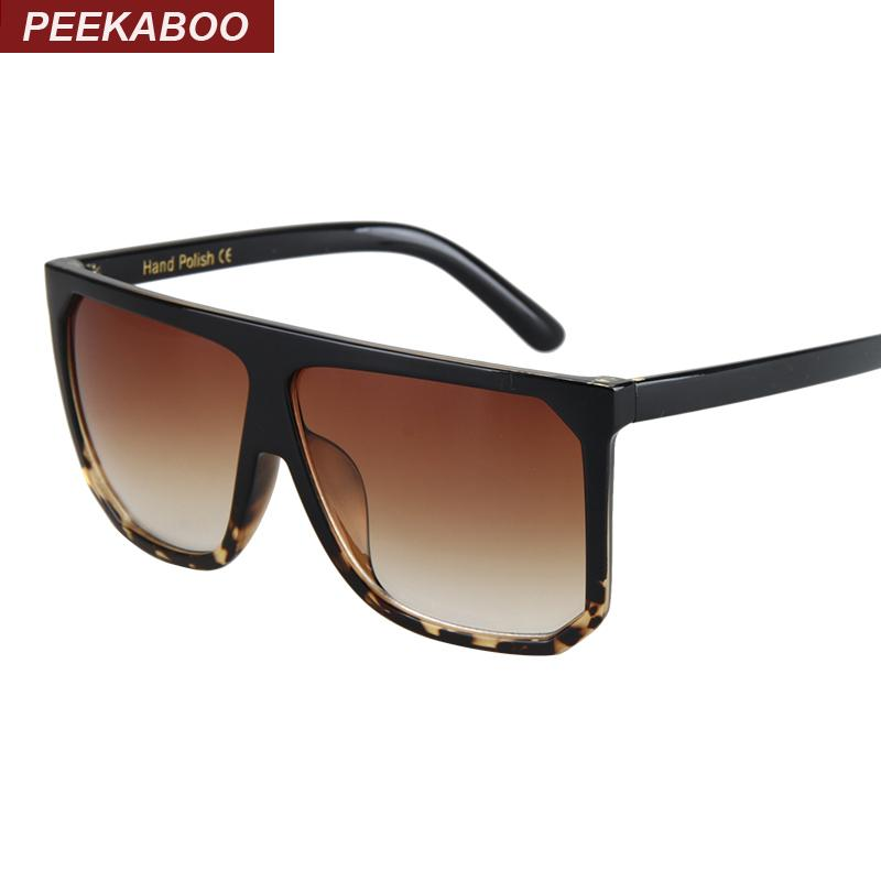 5cde8e74cd2 Wholesale-Peekaboo Black Clear Oversized Square Sunglasses Women ...