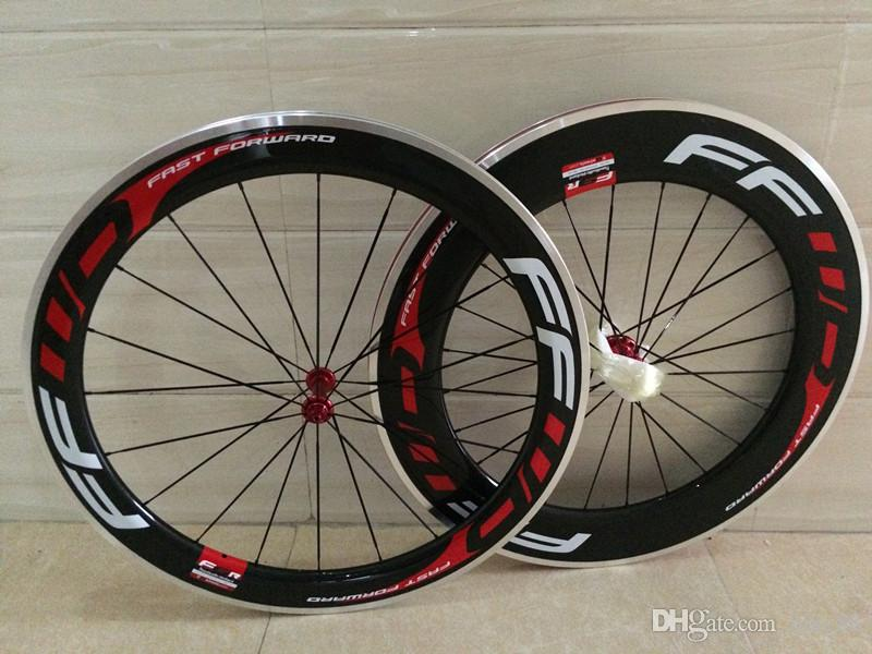 1 year warranty Top sale front 60mm rear 88mm bicycle carbon wheels white/red logo taiwan road bike wheels 700C shiman0 11s