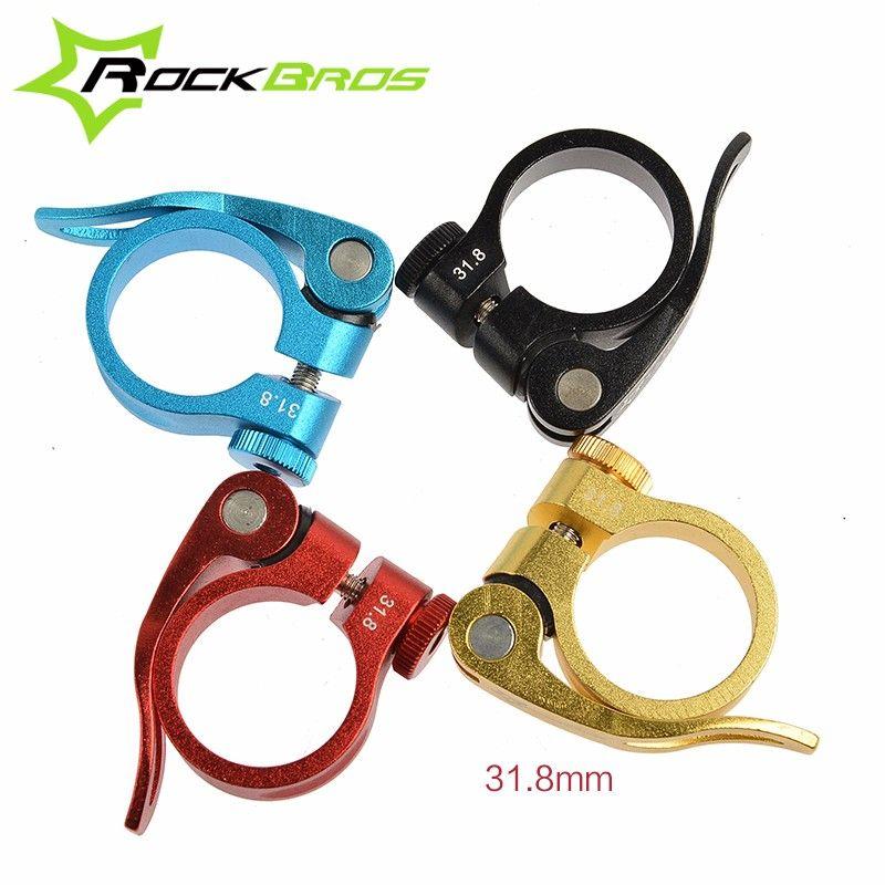 ROCKBROS Aluminium Ultraleicht Schnellspanner Rennrad MTB Mountainbike Sattelstütze Sattelstützenklemme 31,8mm 34,9mm 40g, Großhandel
