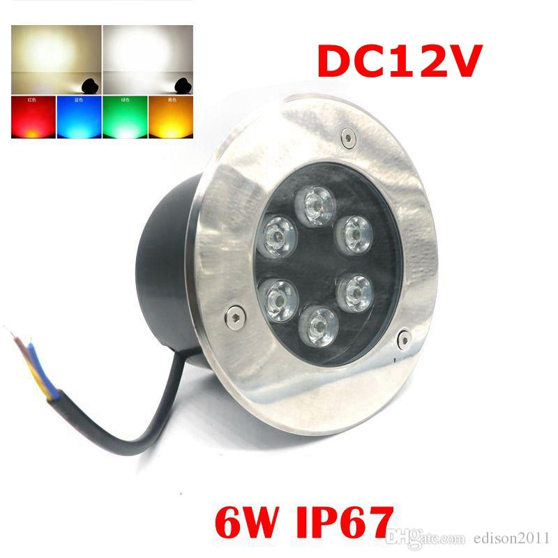 Led Lamps Steady 10pcs Free Shipping Ip65 Led Underground Lights 1w 3w Warm White Green Yellow Blue Color Led Under Ground Light For Garden Rapid Heat Dissipation