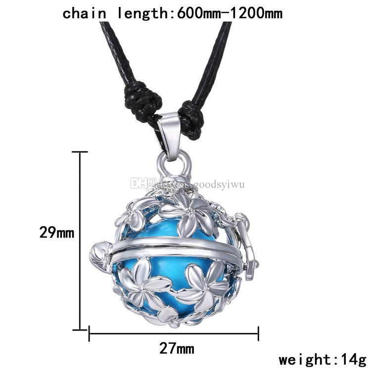 Fashion Harmony Bell Ball Musical Pregnancy Baby Chime Bola Locket Cage Pendant Fetal Education Angel Sounds Caller Necklace
