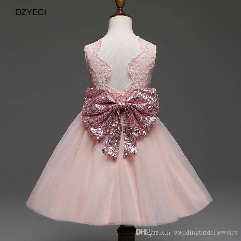 5ed8f4c7fa9d Christmas Costume For Baby Girl Party Bow Lace Dresses Elegant ...