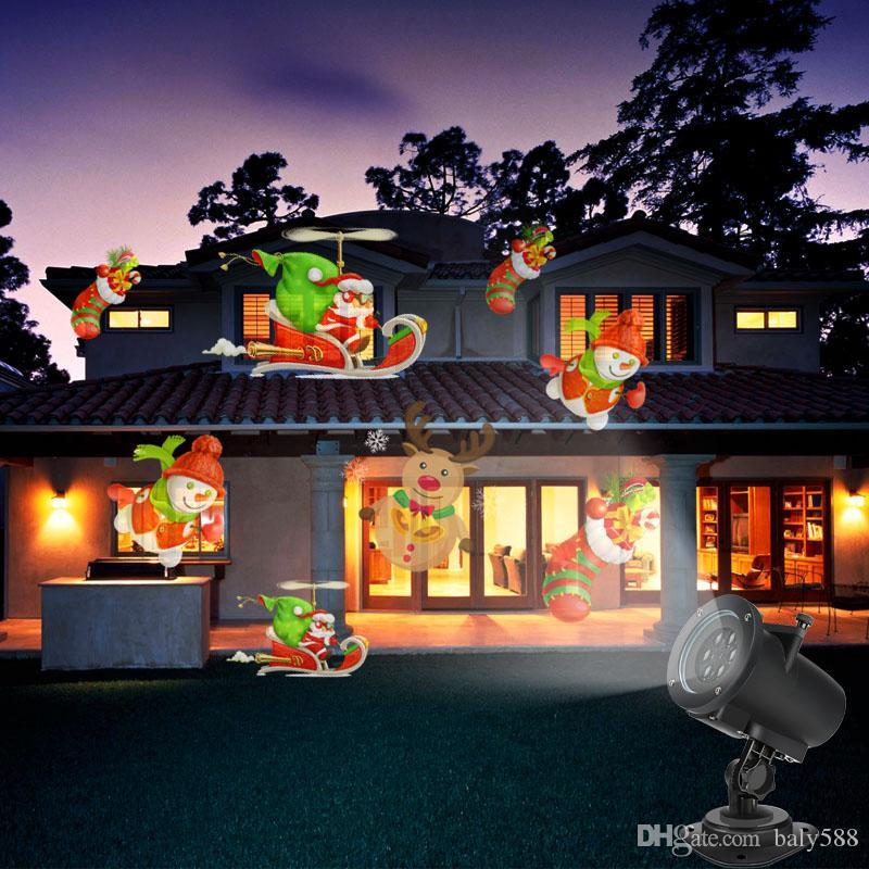 Christmas Projection Lights.2017 2017 Christmas Projection Lights Hallowmas Decoration Outdoor Waterproof Snowflake Landscape Spotlight Holiday And Christmas Decoration From