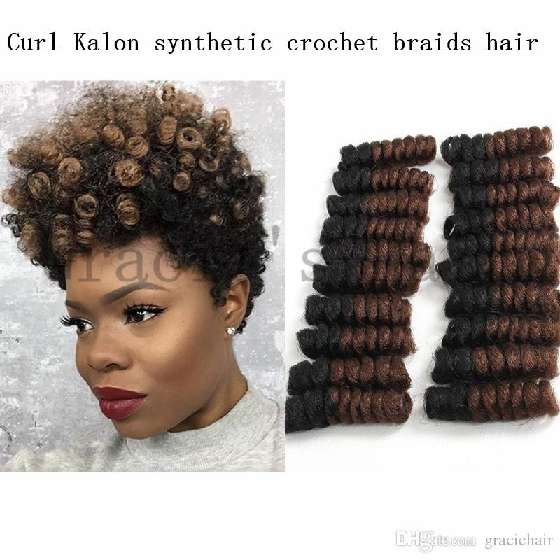 Synthetic Hair Extensions Color Ombre 1b 30 Crochet Braids Curl