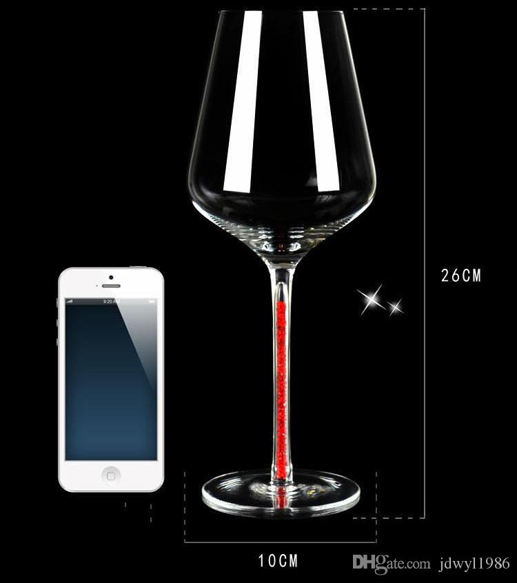high quality innovative DIY wine glass for wedding or party/ lovers birthday gift goblet Fashion Crystal Glass Red Wine Goblet Cup