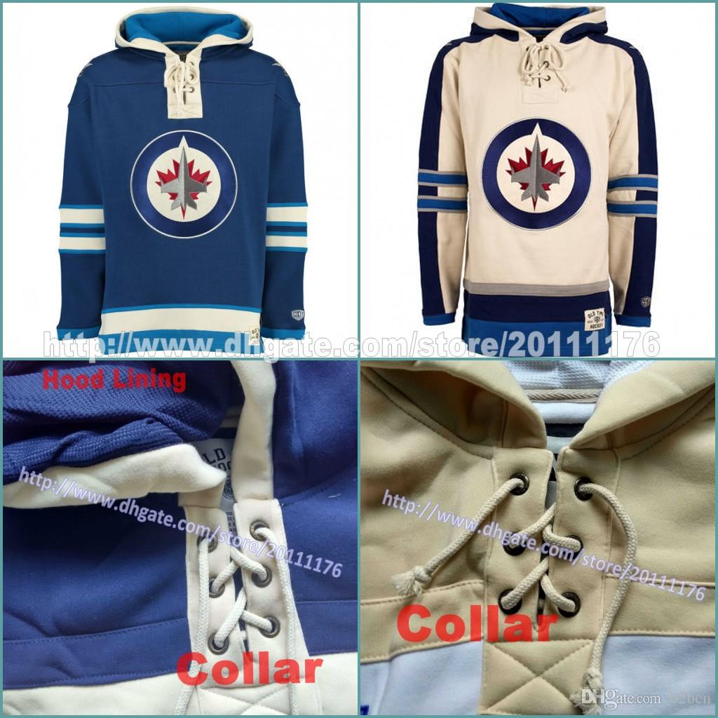 2019 Customized Men S Youth Women Old Time Hockey Hoodies Jerseys Winnipeg  Jets Blank Custom Jersey Hoodie Winter Sweatshirts Blue Cream Shirts From  B2bcn 95f49ff58