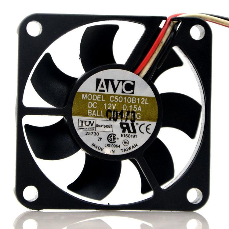 Genuine AVC 5010 12V CPU C5010B12L 5CM cooling fan