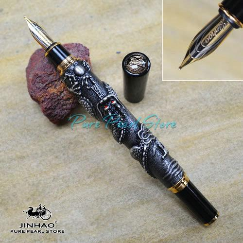 JINHAO 555 Serie Hohe Qualität Büro Schule Schreibwaren 4 Farben Geprägte Drache Abdeckung Ultra Luxus Füllfederhalter + Zusätzliche Geschenk Minen