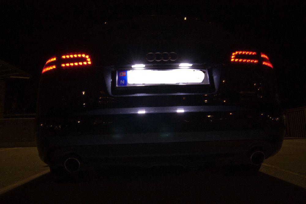 LED Number License Plate Lights 18LED 12V For Audi A4 b6 8E A3 S3 A6 c6 Q7 A4 b7 A8 S8 S6 RS4 RS6
