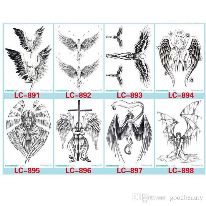 1ec60e2ebb0fd Devil Hole Cool Feather Wings Tattoo Designs Temporary Tattoos Man With  Demon Angels Wing Modern Body Tattoo 8 Different Styles Bloom Temporary  Tattoos Body ...