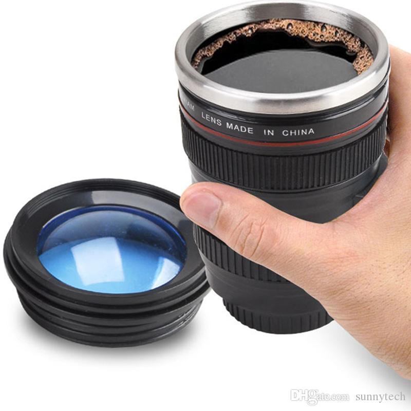 Creative Camera Lens Coffee Mug 400ml Stainless Steel Liner Tea Cup 5 Generation Travel Mug SLR Lens Bottle Novelty Gifts LZ0157