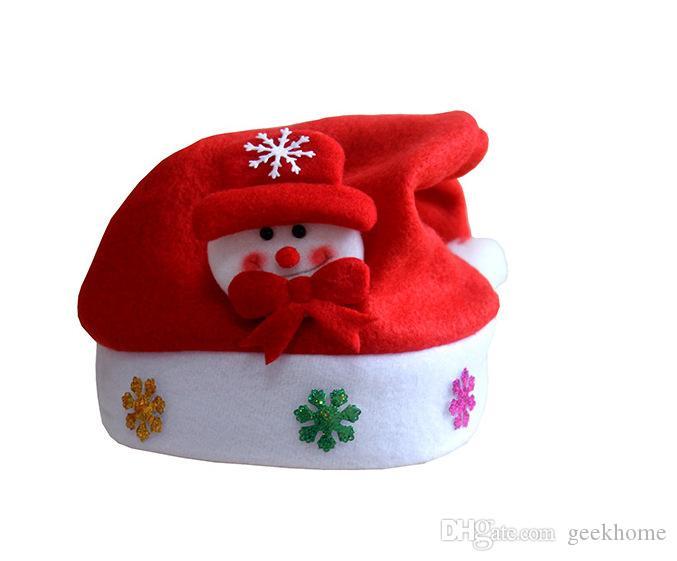 새로운 크리스마스 장식 모자 고급 크리스마스 모자 / 산타 클로스 모자 귀여운 성인 크리스마스 코스프레 모자를