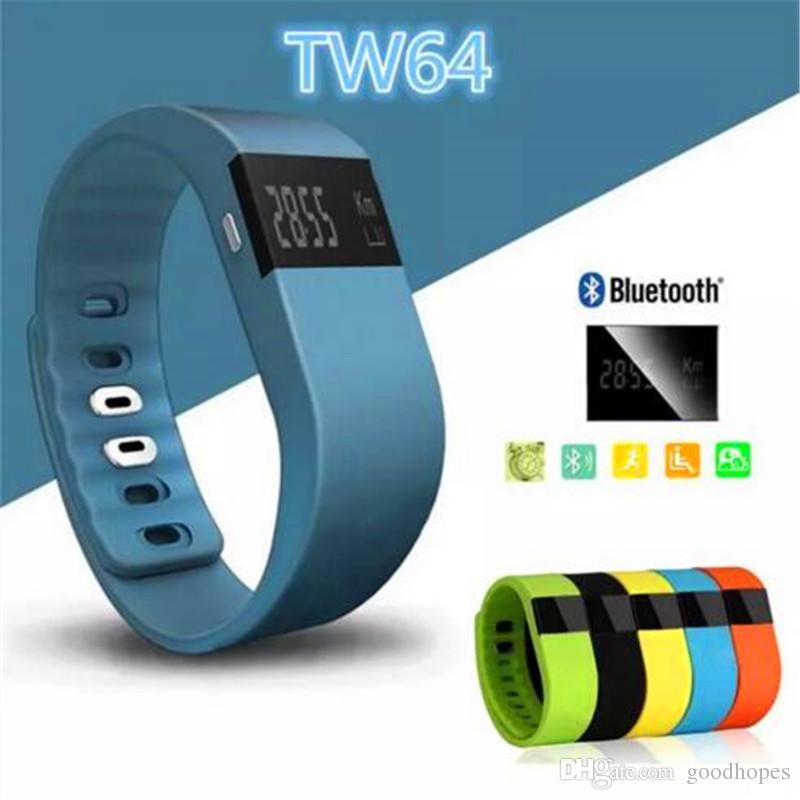Fitbit tw64 smartband bluetooth smart watch pulseira rastreador atividade de fitness bluetooth 4.0 smartband esporte pulseira para ios android phone