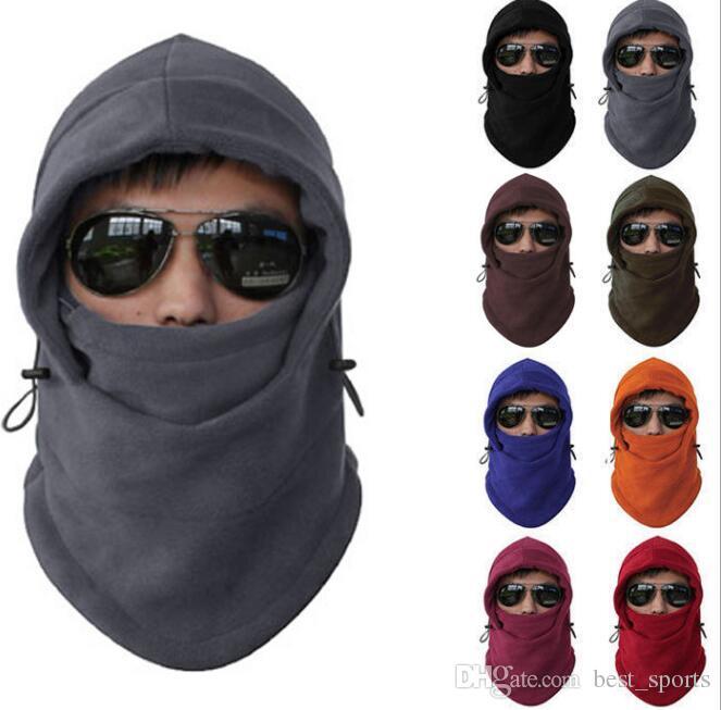 cbbec855fb7 2019 Men Women Winter Fleece Balaclava Hat Ski Motorcycle Neck Face Mask  Hood Cap Unisex Warm Winter Face Mask Hood Hats KKA3569 From Best sports