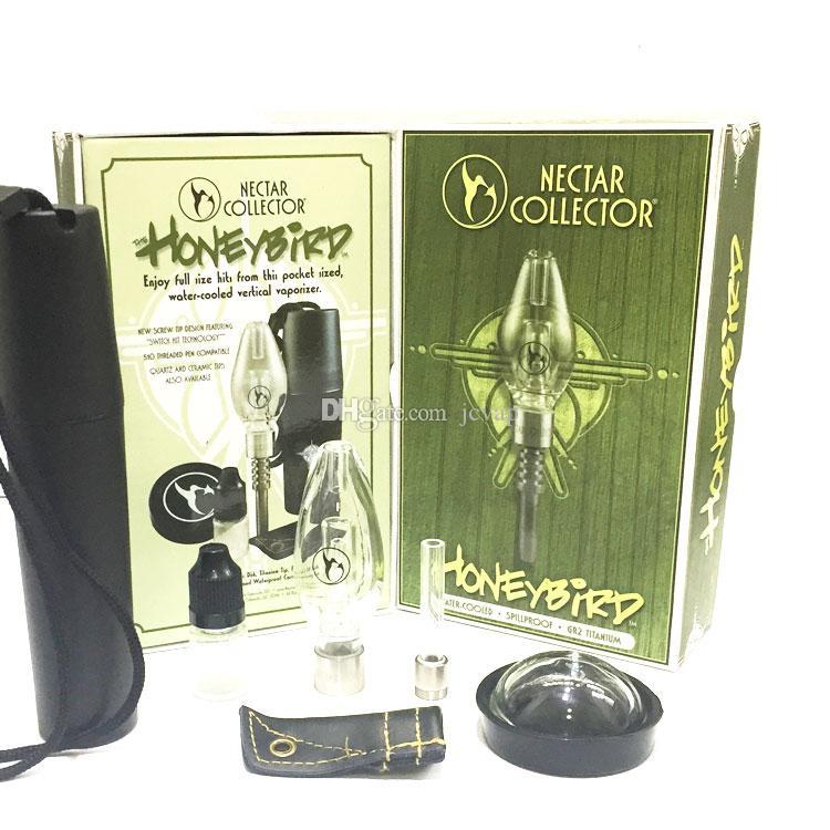Kit honeybird NC con titanio Tip Nail Quarzt ceramica 3 tipi di impianti di perforazione punte Mini Acqua di vetro del tubo Honeybird Oil