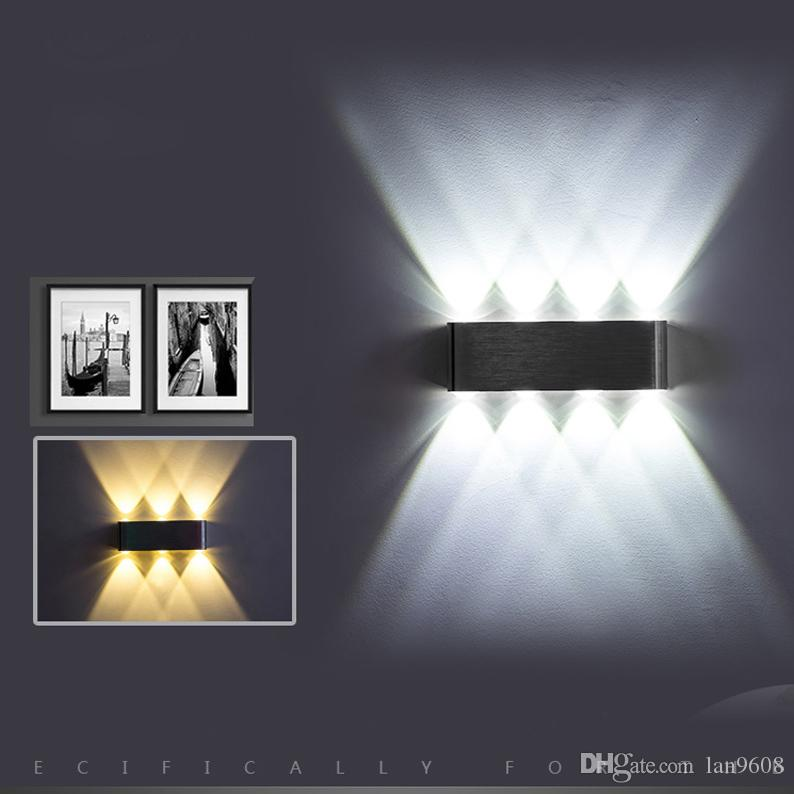 Led bedside wall lamp indoor bedroom creative hotel aisle ktv living room up and down luminous multi-color choice