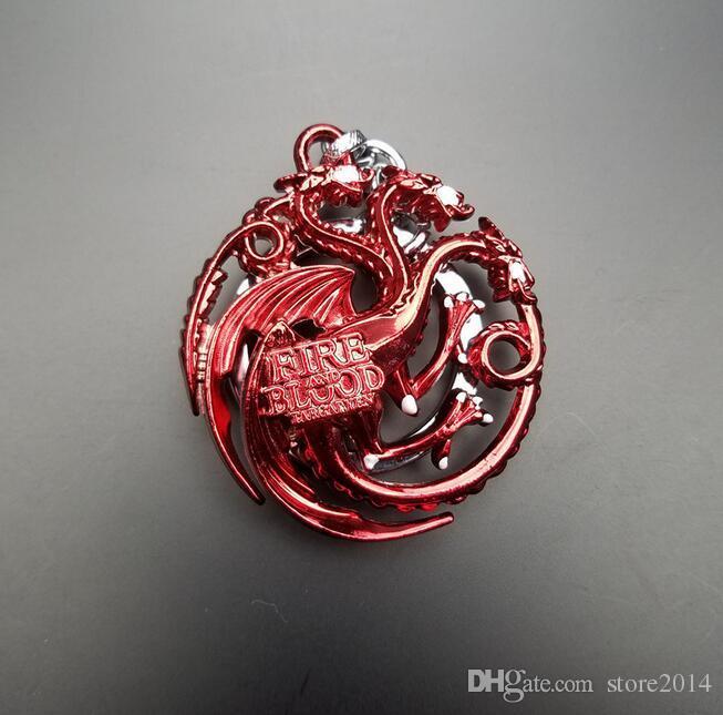 Nuovo gioco di troni Portachiavi Una canzone di ghiaccio e fuoco Portachiavi regalo Chaveiro Portachiavi auto Gioielli Targaryen Portachiavi Souvenir