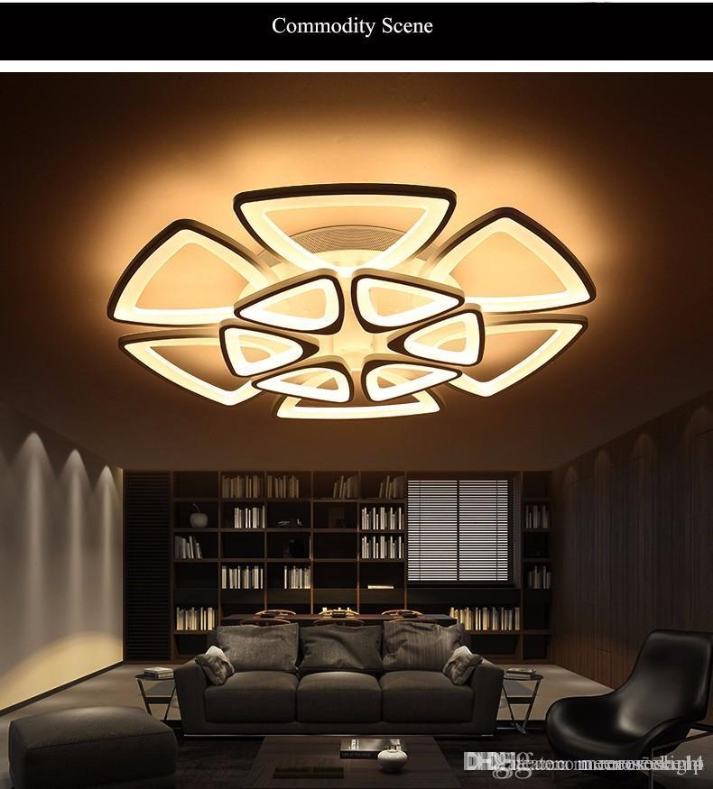 Minimalist modern led ceiling chandelier lights for living room bedroom ac 85 265v home decorative chandelier lamp home lighting ceiling lighting from