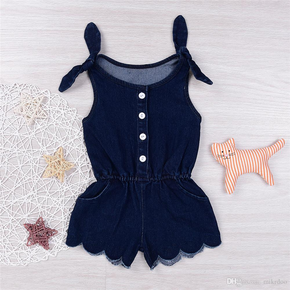 Mikrdoo 2017 Newborn Clothes Suit Infant Baby Girl Navy Blue Romper Kids  Fashion Girls Jumpsuit Outfits Summer Hot Button Top Sunsuit 0 24M UK 2019  From ... c72562bec