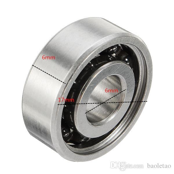 6x17x6mm Cuscinetto a sfera in ceramica ibrida 606 Inox spinner a mano Fidget