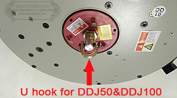 DDJ100 5m Auto Control remoto remoto Hoist Chandelier Elevador de iluminación Levantador eléctrico Sistema de elevación de luz Motor de lámpara con interruptor de pared