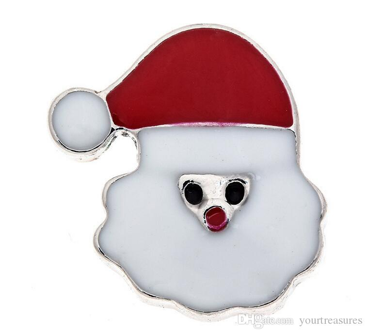 50 adet Noel Boot Kardan Adam Kristal 18mm Düğme Zencefil Yapış Charms Takı Değiştirilebilir Jewerly Charms Kolye Kolye 2016 Charms