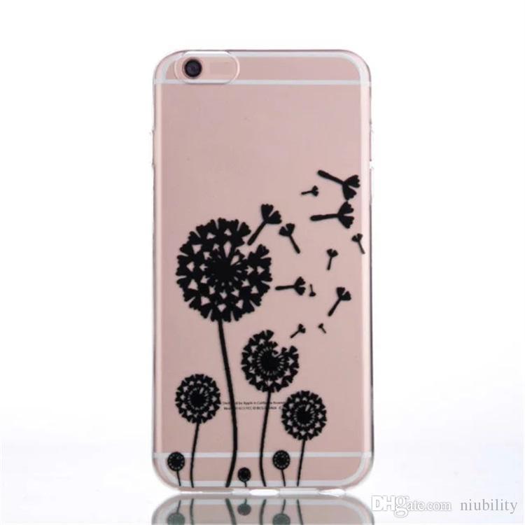 2017 Cas de Téléphone Blanc Dentelle Belle Manches De Protection Téléphone Case Couverture Pour iphone 6 s 7 plus Samsung s7 S7 bord Huawei p9
