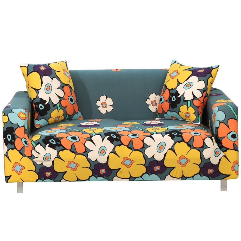 Loyal Elastic Stretch Sofa Cover Country Style No Armrests Sofa Cover All-inclusive Universal Printed Polyester Fabric Sofa Cover Home & Garden Table & Sofa Linens