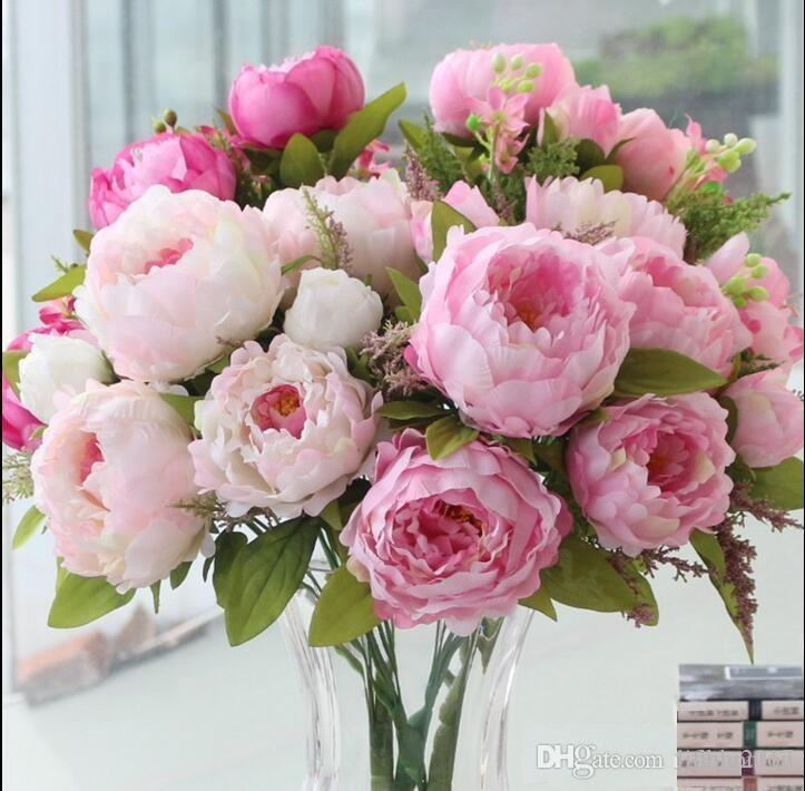 Online cheap artificial peonies silk flowers real touch fake leaf online cheap artificial peonies silk flowers real touch fake leaf home and wedding party decoration 7 peony flowers head by lifeng2017 dhgate mightylinksfo