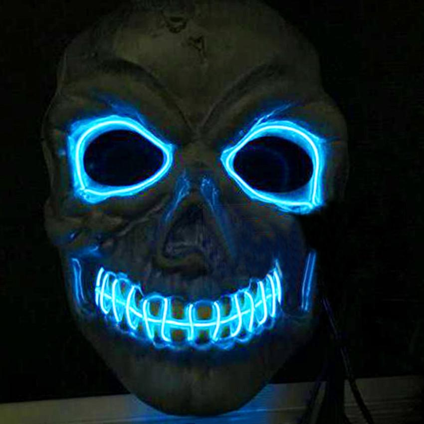wholesale novelties led mask skull skeleton fancy scary halloween costume neon rave 2016 mask theme party decorations mask venetian from elecc - Halloween Novelties Wholesale