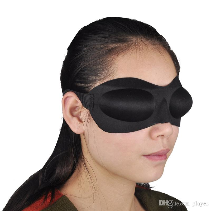 Máscara ocular portátil 3D de algodón con ojos vendados Sombra de ojos suave Cubierta de la siesta Sombra de ojos vendados Reposo de viaje Cuidado de la visión es