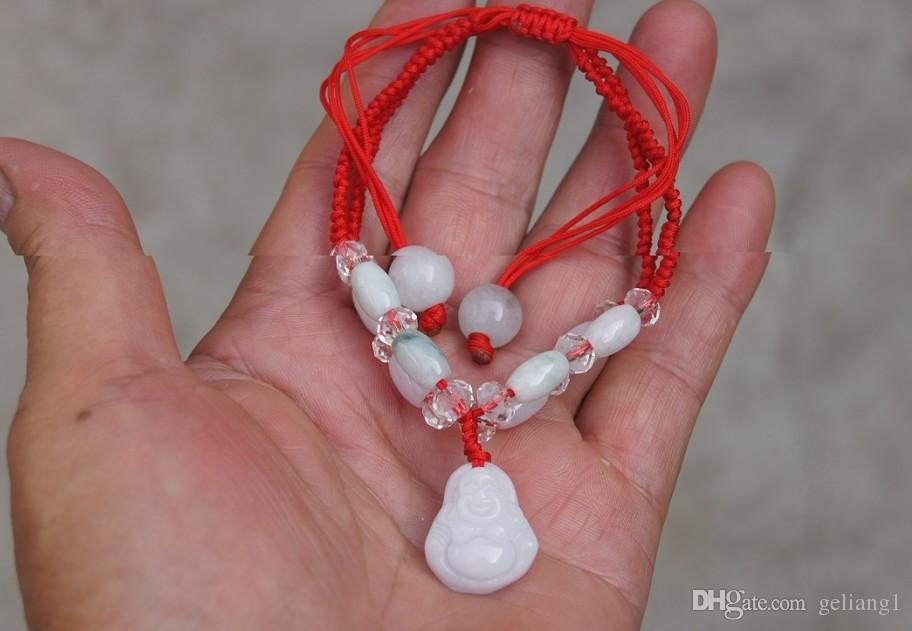 Белый нефритовый браслет Будды. 8 нефритовые бусины ручной работы. талисман