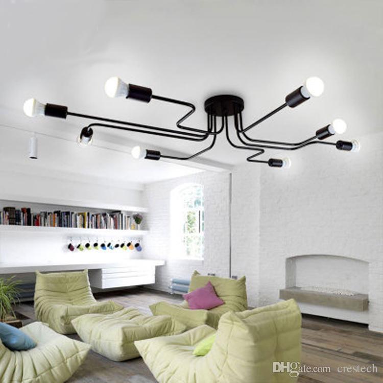 Kişilik tavan lambası ışık tavan avizeler led uzun demir avize, yatak odası lamba oturma odası dekorasyon, lamba özelleştirme