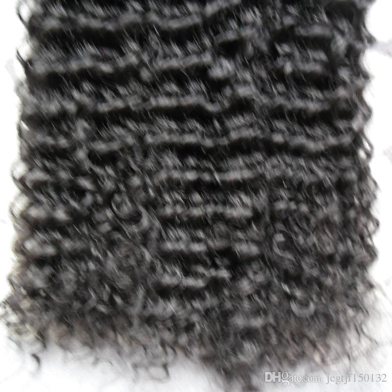 Estensione dei capelli della cheratina dell'onda profonda U Punta estensioni dei capelli umani cheratina Punta del chiodo Estensione dei capelli pre estensioni umane legate Nero 200g