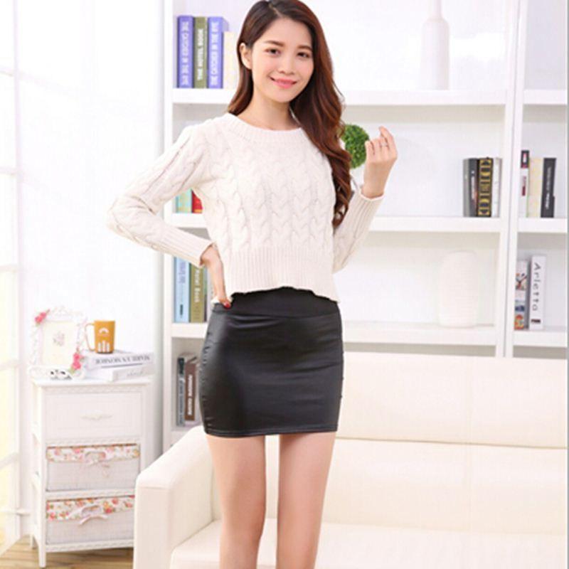 8e7bf44076c2e9 2016 nouvelle jupe en cuir femme Fangpibao hanche jupe OL sexy slim taille  jupe corps banlieue